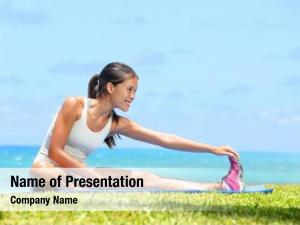 Legs woman stretching exercise training