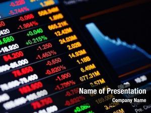 Data stock market screen