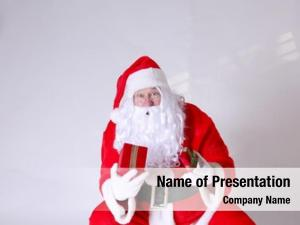 Shocked santa claus amazed