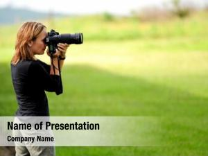 Shot woman frames using her