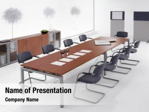 Interior, minimal office meeting room,