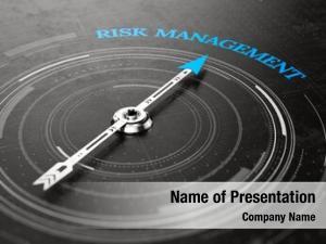 Concept risk management compass needle