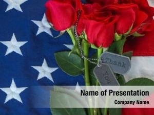 Roses american flag military dog