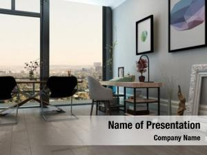 Open panoramic interior concept office