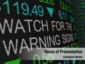 Signs watch warning stock market
