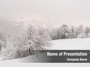 Landscape minimalistic winter cloudy weather