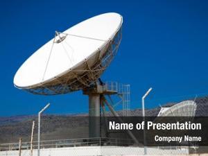 Antennas satellite dish blue sky
