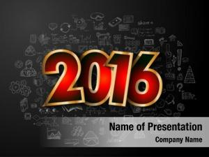 Conceptual 2016 business creative drawing