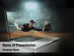 Player caucassian baseball dynamic action