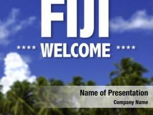 Written fiji, welcome beautiful beach