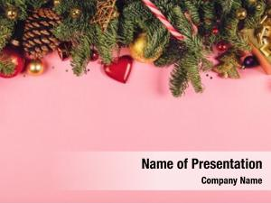 Fir christmas border branches, conifer