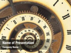 Vintage infinity time clock