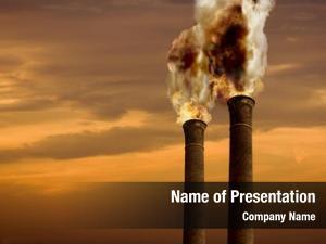 Theme global warming chimneys flames