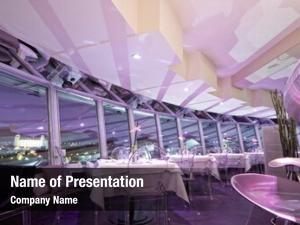Bar interior modern restaurant, pink