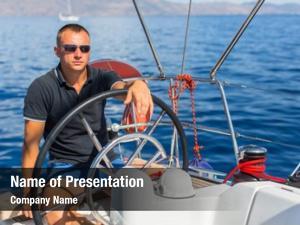 Controls captain helm sailing boat