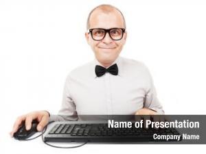 Keyboard computer geek mouse, white