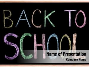 Chalkboard back school! blackboard back