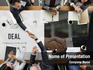 Business deal word handshake