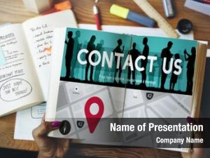 Business contact assistance correspondence concept