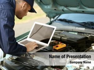 Computer mechanic using diagnostics while