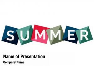 Concept word summer color geometric