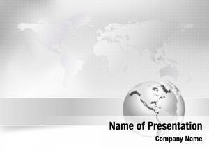 Globe business silver world map