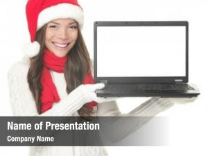 Girl laptop christmas