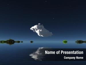Islands cloud watery horizon