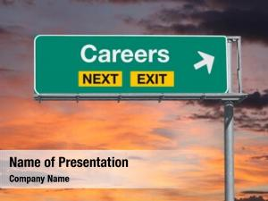 Exit careers next freeway sign