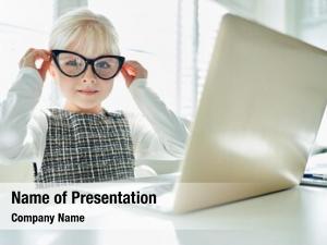 Nerd girl computer programmer laptop