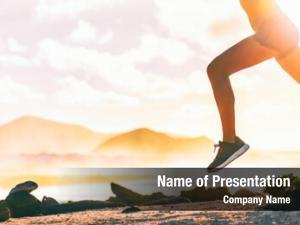 Silhouette running legs runner woman