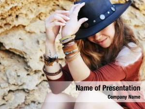 Woman fashion smiling portrait hat