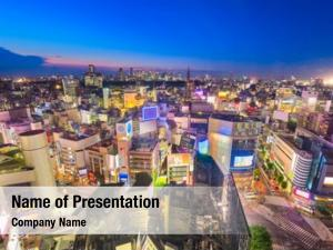 City tokyo, japan skyline over
