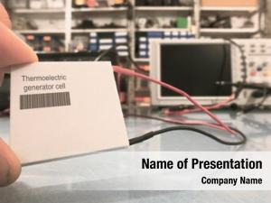 Thermoelectric generator powerpoint template