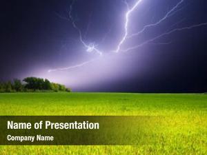 Over lightning strike field