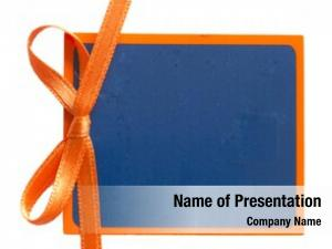 Orange blue tag ribbon