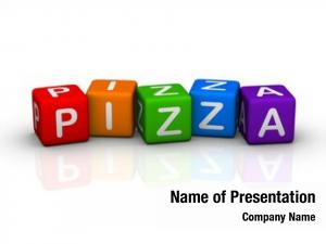 Colorful pizza (buzzword cubes series)