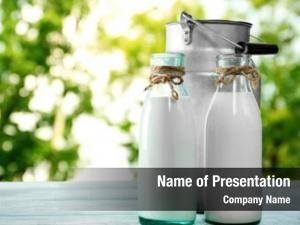 Milk retro can glass bottles