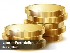 White golden coins