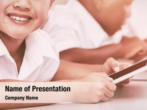 Using school kids mobile phone