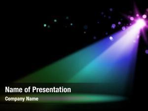 Stage colorful vivid spotlight stage