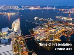 Panoramic aerial view modern city