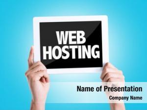 Web tablet text hosting blue