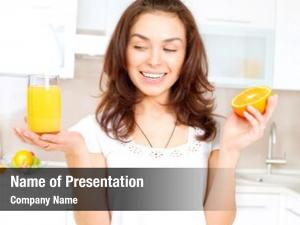 Woman young healthy orange juice