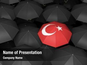 Rendered top view turkish umbrella
