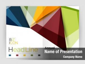 Presentation geometric business abstract