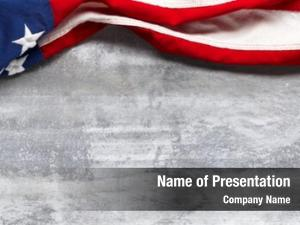 Worn american flag white wooden