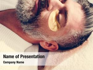 Golden man relaxing eye mask