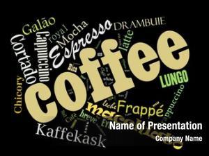 Cappuccino, coffee, espresso, macchiato, word
