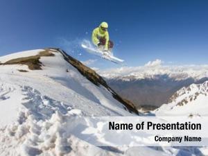 Adrenaline jumping ski rider mountains